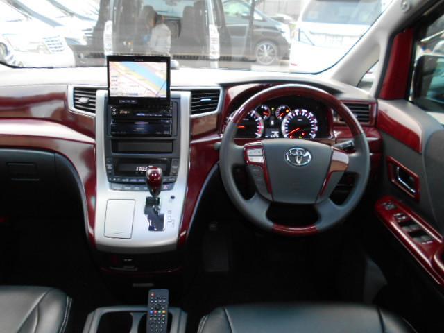 トヨタ ヴェルファイア 2.4Z 7人 HDDナビフルセグTV 20AW 両側電スラ
