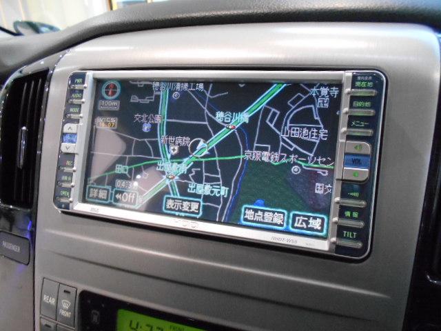 トヨタ アルファードV AS7人乗り HDD後席モニター DAD20インチ両側電スラ