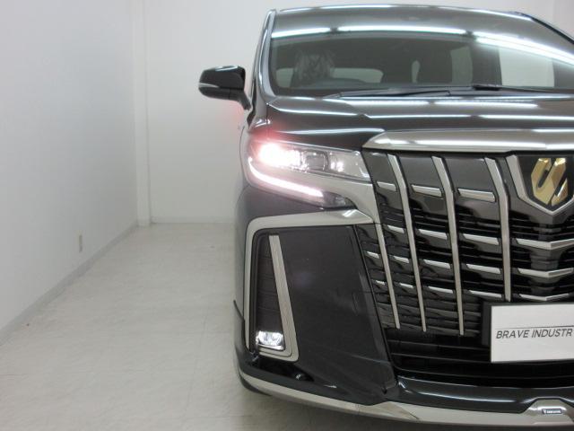 2.5S タイプゴールド 新車 モデリスタエアロ 3眼LEDヘッドシーケンシャルウィンカー ディスプレイオーディオ 両側電動スライド パワーバック ハーフレザー オットマン レーントレーシング Bカメラ 100Vコンセント(14枚目)