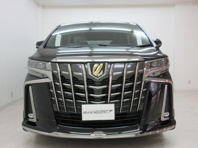 2.5S タイプゴールド 新車 モデリスタエアロ フリップダウンモニター 3眼LEDヘッドシーケンシャルウィンカー ディスプレイオーディオ 両電スラ Pバック ハーフレザー オットマン レーントレーシング 100Vコンセント(2枚目)