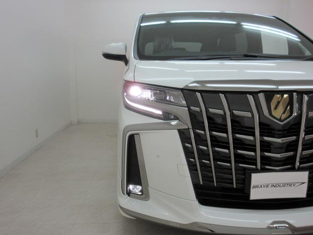 2.5S タイプゴールド 新車 モデリスタエアロ 3眼LEDヘッドシーケンシャルウィンカー ディスプレイオーディオ 両側電動スライド パワーバック ハーフレザー オットマン レーントレーシング Bカメラ 100Vコンセント(48枚目)
