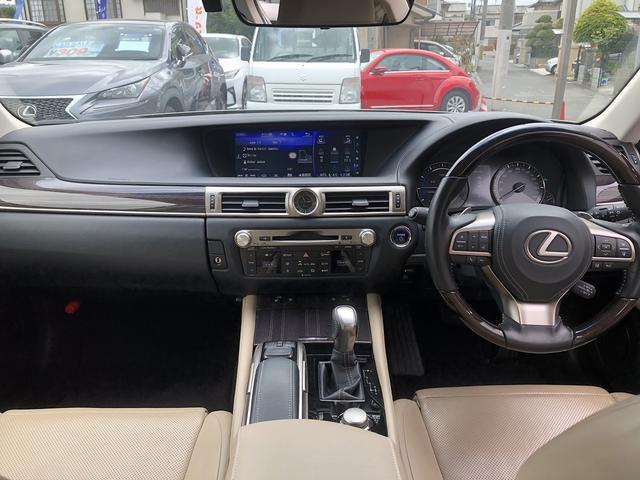GS300h バージョンL 純正ナビ 三眼LEDヘッドライト ワンオーナー メモリー機能付パワーシート 前席シートエアコン 全席シートヒーター サンルーフ アダプティブクルーズコントロール ETC2.0 障害物センサー ドラレコ(12枚目)