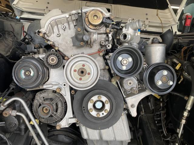 350SL 右ハンドル M104 36 AMG スワップ ディーラー車 レストア渡し(12枚目)
