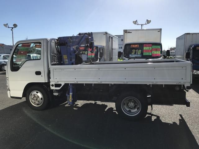 いすゞ エルフトラック 10尺 4段簡易クレーン ラジコン 2t積