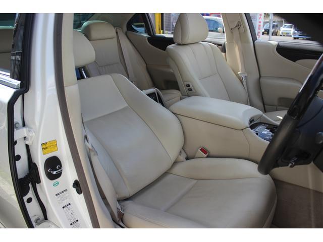 レクサス LS LS600hL後席セパレートシートパッケージ