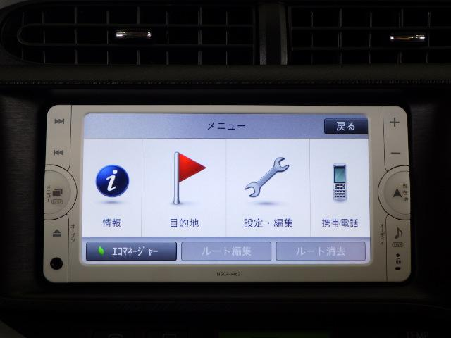 トヨタ アクア S メモリーナビ ワンセグ キーレス ETC