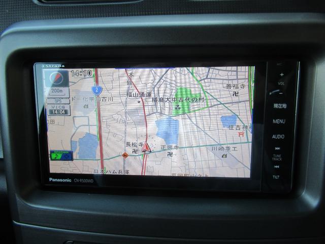 社外SDナビ(CD/MP3/DVD再生/SDカード/録音機能/フルセグTV)を装備しています。