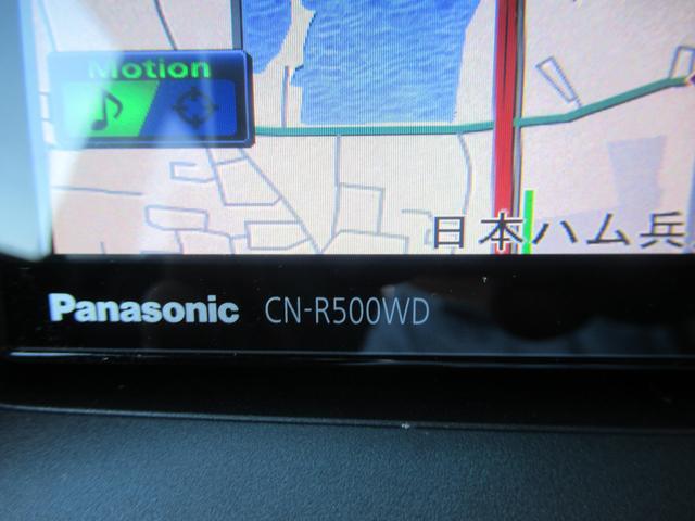 パナソニックSDナビ(CN-R500WD)を装備しています。