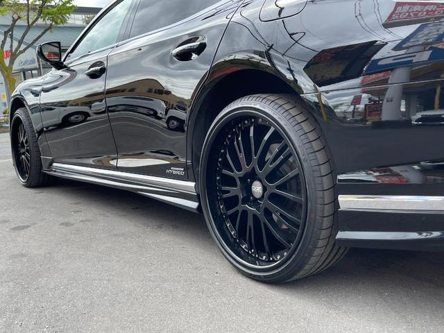 LS500h AWD エグゼクティブ WALD仕様 OZ22アルミ サンルーフ 黒革シート エアサスコントローラー リアエンターテイメント セーフティシステム+A マークレビンソン デジタルインナーミラー 新車保証継承 212ブラック(44枚目)