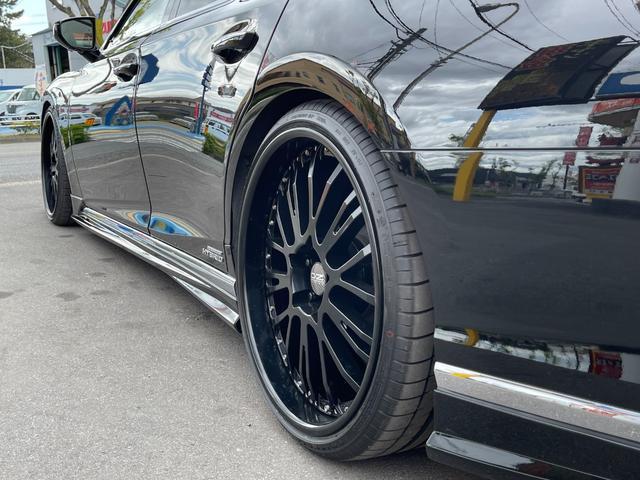 LS500h AWD エグゼクティブ WALD仕様 OZ22アルミ サンルーフ 黒革シート エアサスコントローラー リアエンターテイメント セーフティシステム+A マークレビンソン デジタルインナーミラー 新車保証継承 212ブラック(45枚目)