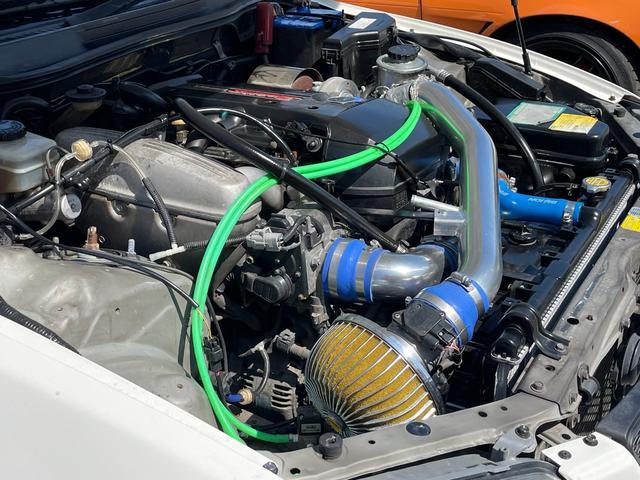 RS200 Zエディション ワイドフェンダー公認 トラストターボKIT トラストイーマネージサブコン フジツボセンターパイプ トラストマフラー テイン車高調 HKSブーコン 軽量ボンネット(10枚目)