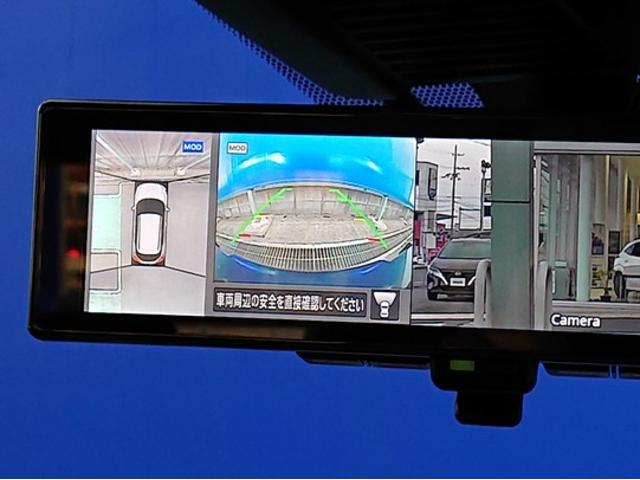 X 登録済未使用車 全周囲カメラ LEDヘッドライト 踏み間違い防止 車線逸脱 インテリルームミラー SOSコール ハイビームアシスト EVモードスイッチ ふらつき警報 プロパイロット オートライト(10枚目)
