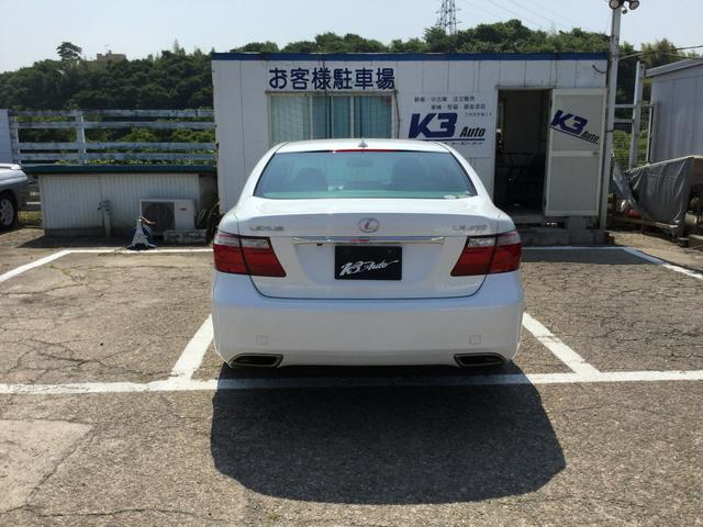 レクサス LS LS460 Ver.S 白革エアシート コンビH HID