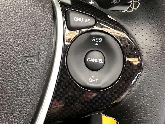 《クルーズコントロール》高速道路などで一定の速度を保つ際、アクセルなしでスピードが維持できるためとても便利です★長距離運転で快適かつスムーズな運転が可能です★