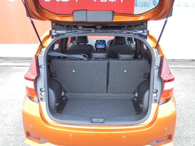 ラゲッジル-ムも広々、開口部が広く荷物を積む時も積みやすくなっています!!