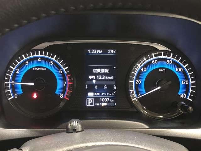 メーター内のカラーディスプレイには運転をサポートするさまざまな情報を表示。昼間も夜間も見やすく分りやすいです