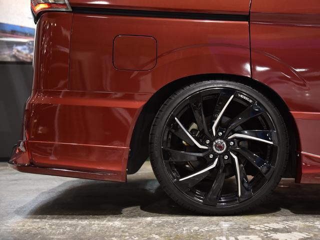 ハイウェイスター Vセレクション ロジャム コンプリート 車高調 レイズ19AW 塗分け塗装 ディライト ドレスアップ アラウンドビューモニター フリップダウン デカナビ(45枚目)