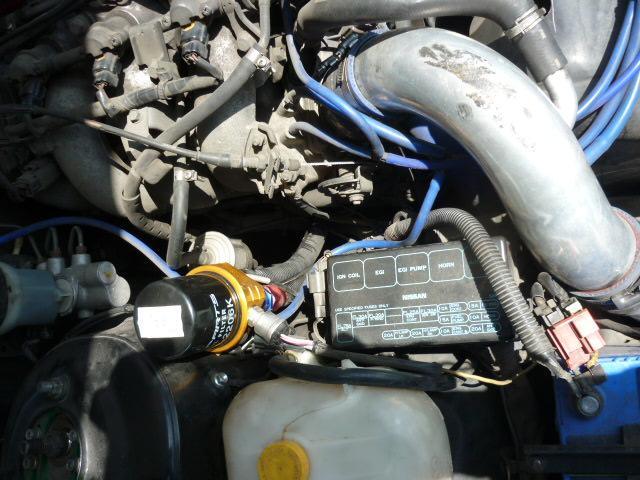 Q's2(スクエア) SR20DETターボ パワーFC HKSハイカム Z32エアフロ インジェクター エキマニ アウトレット フロントパイプ エレメント移動式オイルクーラー トラスト追加メーター LSDファイナル4.3(17枚目)