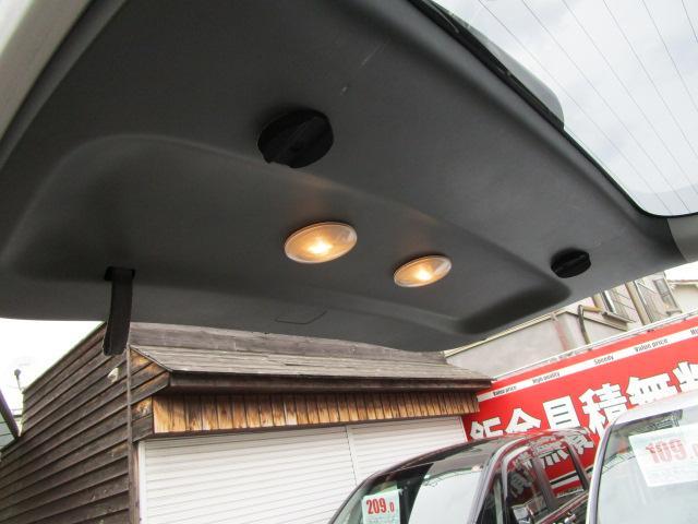 夜間でもスモール連動で照明が点灯するので夜間の車いす乗降りに便利です