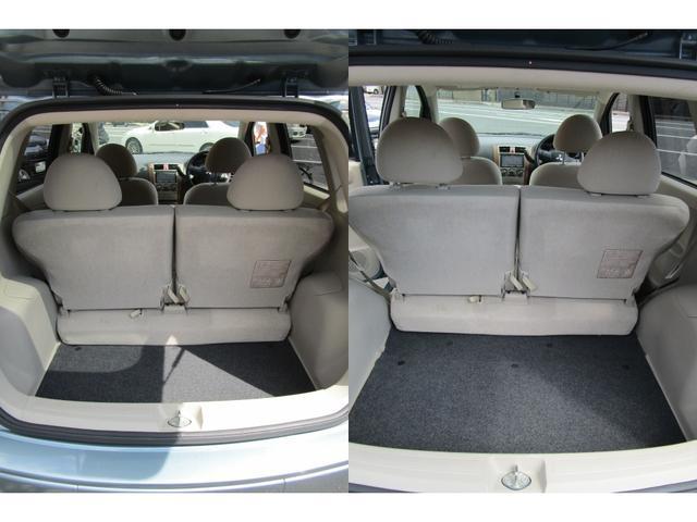 リヤシートがスライドできるので荷室の大きさが変えれます。大きなものを積むのに便利な機能です。