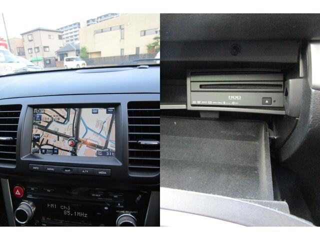 メーカーオプションの純正HDDナビ搭載。DVD再生可能です。
