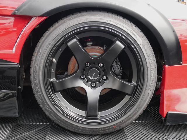 新品F17インチ&R18インチ5本スポークマットブラックアルミホイール☆タイヤ☆スポーティーなディープコンケーブのスポーク形状☆