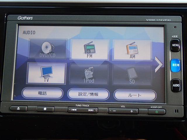 ホンダ フィット 13G・Lパッケージ 純正用品メモリーナビ ETC LED