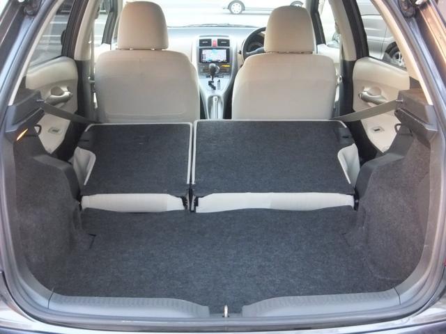 2列目シートを倒せば多目的に使用できるスペースが確保されます。