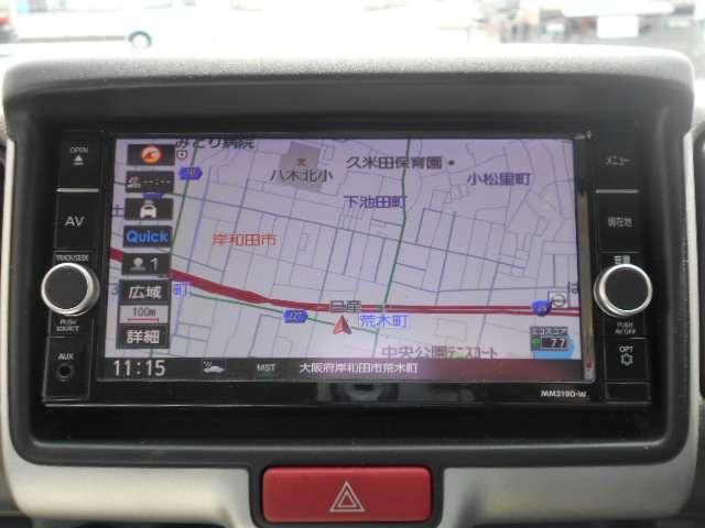 660 DX 5AGS車 フルセグ メモリーナビ パワーステアリング ナビTV エアバッグ エアコン ABS CD リアカメラ ワイヤレスキー ワンオーナー車 運転席助手席エアバック(4枚目)
