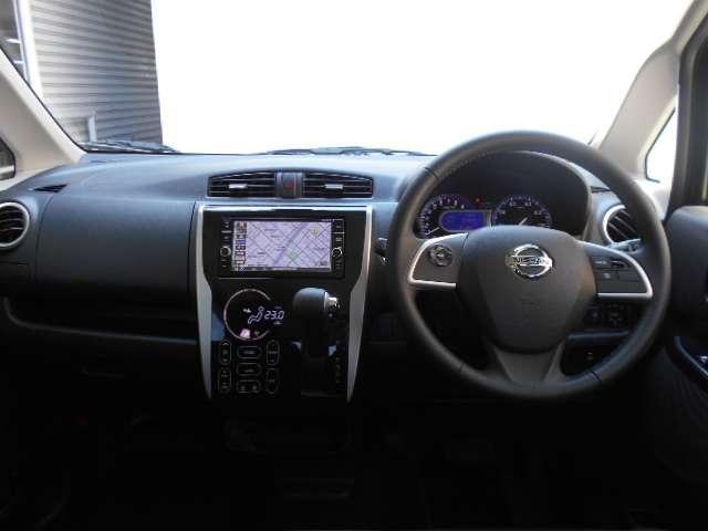 660 ハイウェイスターGターボ HIDヘッドライト キーフリ TVナビ クルコン ドライブレコーダー ABS メモリーナビ ETC アルミホイール ワンセグ オートエアコン アイドリングS アラウンドカメラ サポカーS スマートキ(3枚目)