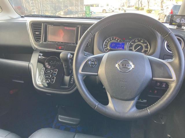 ハイウェイスター Xターボ レザーシートカバー 新車保証継承 1オーナー 禁煙車 ナビ・ルームミラー360°カメラ表示 左電動スライドドア ドラレコ Bluetooth テレビ CD ETC ブレーキサポート 14インチアルミ(6枚目)