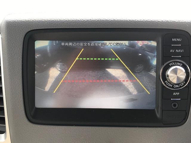 バックカメラ装備ですので車庫入れも安心してできます。