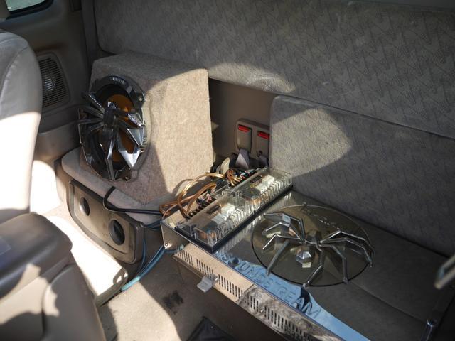 エクストラキャブ 左ハンドル 17AW ステップバンパー 同色バンパー ベットライナー ビレットグリル 4インチダウン ウーハー ETC HID ウインクミラー(9枚目)