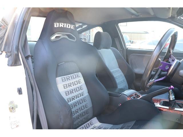 タイプX 後期モデル ADVAN17AW BRIDEセミバケ GPスポーツマフラー HKS車高調 社外デフ1WAY エアクリ(10枚目)