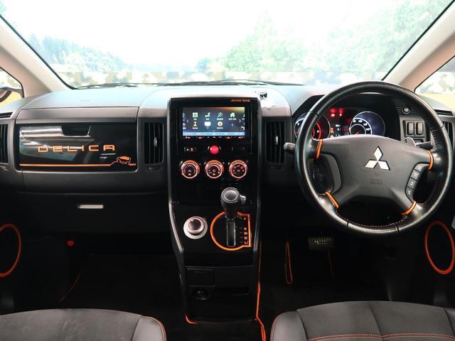 アクティブギア 4WD 純正ナビ フリップダウンモニター 両側電動スライドドア ハーフレザーシート 純正18AW HIDヘッドライト クルーズコントロール オートエアコン パドルシフト フルセグTV 禁煙車(2枚目)