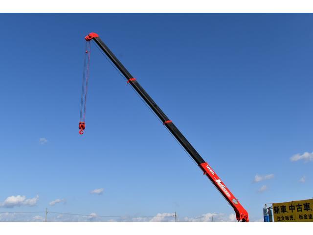 ベースグレード 古河4段ユニック ラジコン 4トン車 荷台鉄板加工 6速MT車 新品メッキバンパー メッキグリル(24枚目)