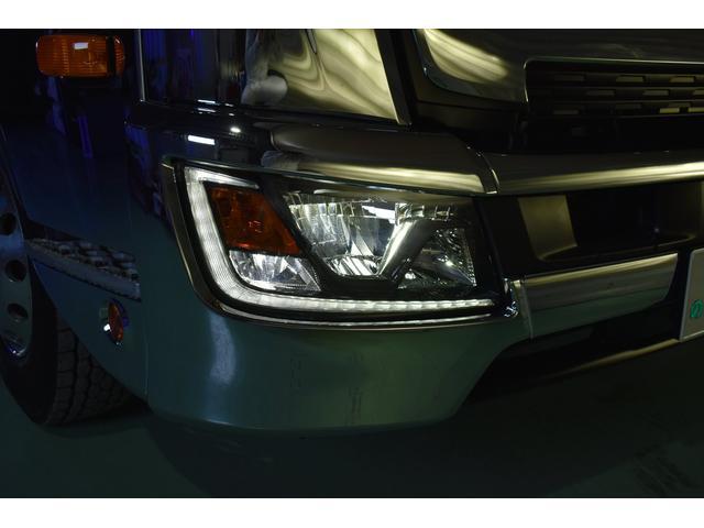 積載車 ステンレス加工 油圧リアゲート ユニックネオ5 ハイルーフ ベッド付き カーテン 内装LED コーナーLED フルメッキ装着 レーダー ドラレコ ETC 社外ナビ TV走行中OK 道具箱(74枚目)