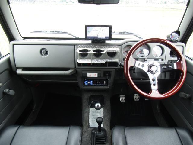 ワイルドウインド 4WD スムージング マフラー 革調シート(9枚目)