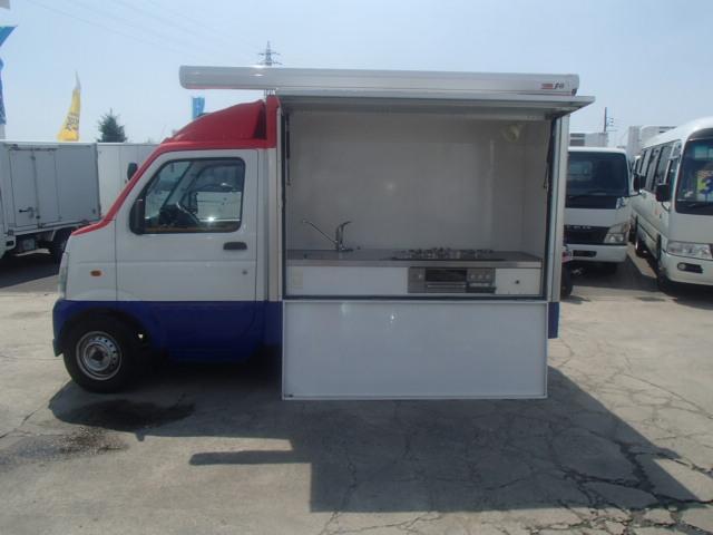 移動販売車 3室式 サブバッテリー オーニング 外部電源(5枚目)
