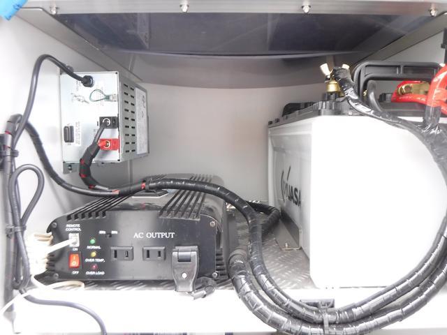 移動販売車 3室式 サブバッテリー オーニング 外部電源(12枚目)