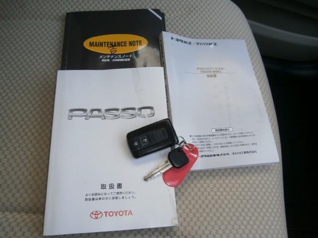 トヨタ パッソ X Fパッケージ DVDナビ スマートキー
