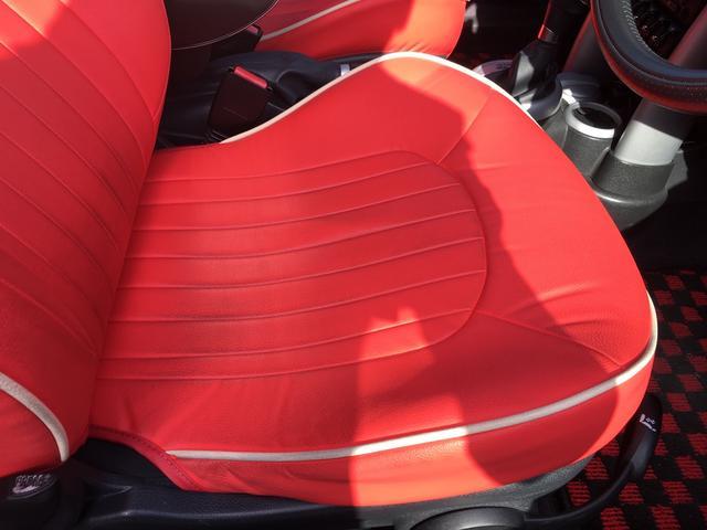 MINI MINI クーパーS コンバーチブル 赤革調シートカバー イカリング