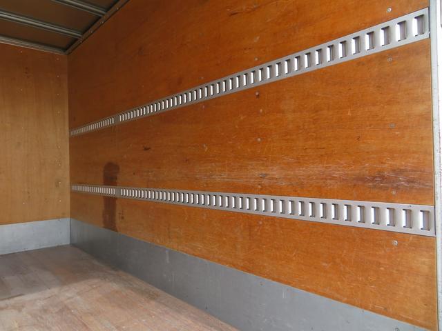 1.9トン アルミバン 全低床 3ペダル サイドドア 荷寸344-176-216 インパネ5速MT 床板アピトン ラッシングレール2段 左電格ミラー(15枚目)
