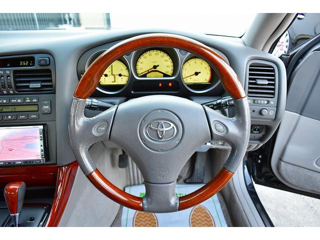 トヨタ アリスト S300ウォールナットパッケージ 本革シート HDDナビ