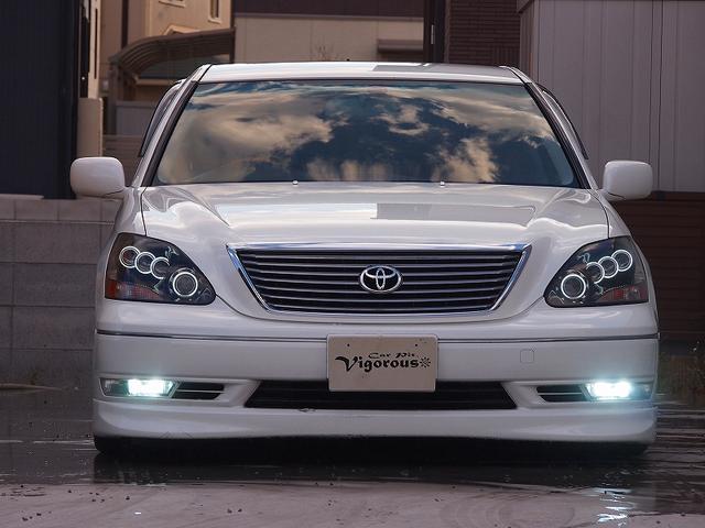 トヨタ セルシオ C仕様 フルエアロ 黒革 WALD 19AW ライト加工