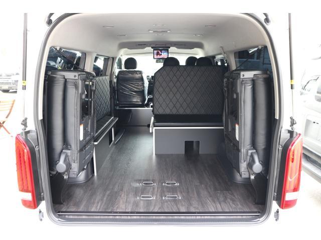 GL 3列目対面ラウンジベット家具フローリング車中泊アウトドア仕様カスタムコンプリートIIIIdentityエアロパッケージ(10枚目)