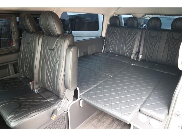 GL 3列目対面ラウンジベット家具フローリング車中泊アウトドア仕様カスタムコンプリートIIIIdentityエアロパッケージ(13枚目)