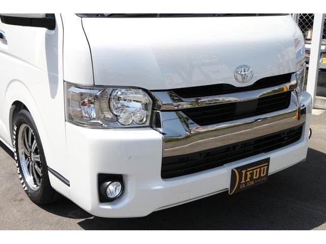 スーパーGL ダークプライムII 2.8D-T3ナンバーワゴン乗用車登録8人ベンチシート2脚スライドレールフルセグナビフリップダウンモニター両側電動スライドドアパノラマミックビューモニターLEDテールウッドインテリアミニバン仕様(6枚目)