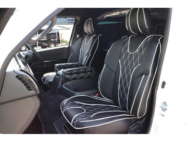スーパーGL ダークプライムII 2.8D-T3ナンバーワゴン乗用車登録8人ベンチシート2脚スライドレールフルセグナビフリップダウンモニター両側電動スライドドアパノラマミックビューモニターLEDテールウッドインテリアミニバン仕様(36枚目)