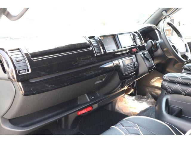 スーパーGL ダークプライムII S-GLワイドIFUUカスタムコンプリートフローリングベットキットバケットシートカバーフルセグナビフリップダウンモニター助手席ツインモニターウッドインテリアLEDテール17inアルミローダウンエアロ(28枚目)